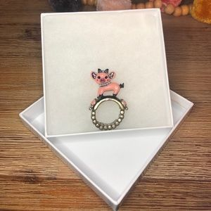 Betsey Johnson Pig Ring